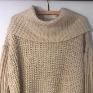 Knit Oversized Turtle Neck Sweater